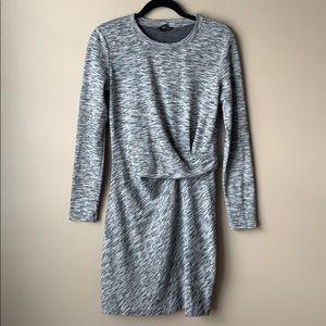 Club Monaco heathered gray long sleeve dress sz 6